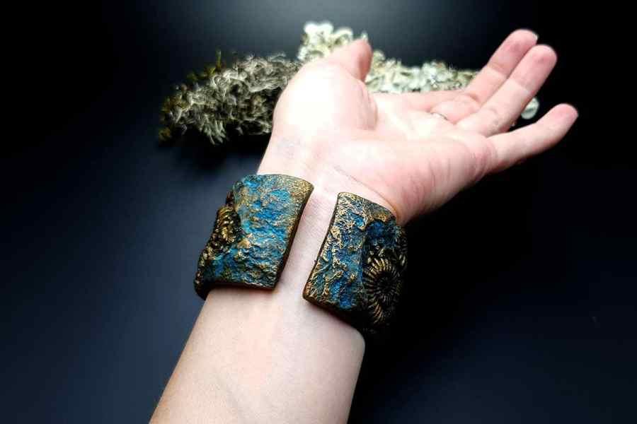 Bracelet Cuff Ammonites img12
