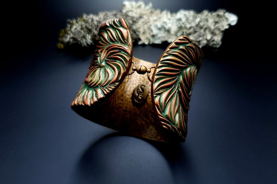 Bracelet Cuff Tree Bark img02