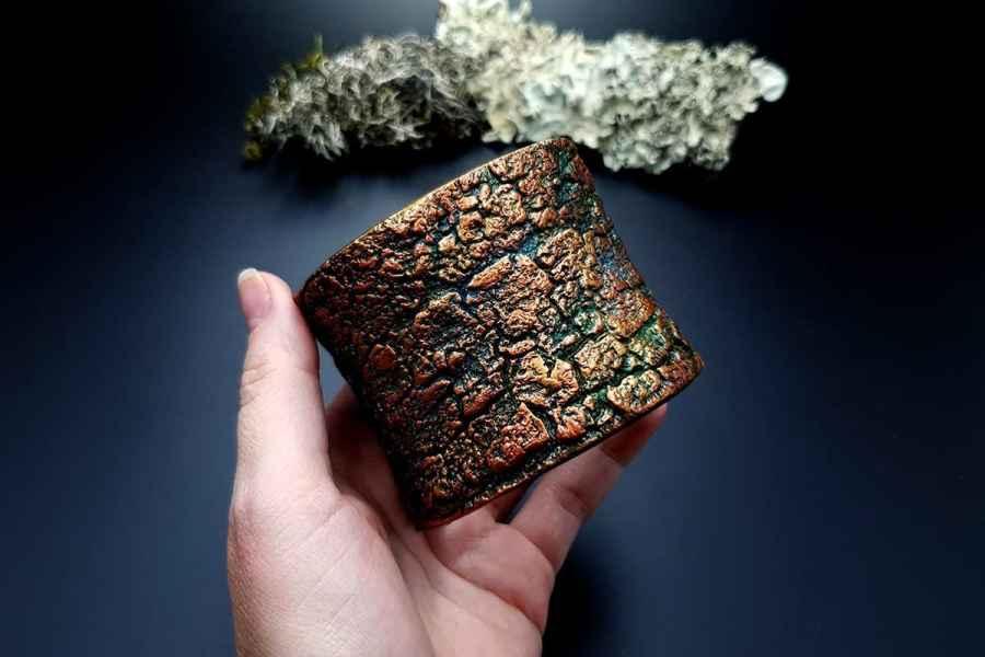 Bracelet Cuff Tree Bark img03
