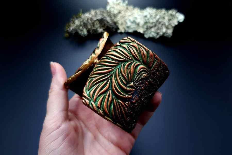 Bracelet Cuff Tree Bark img06