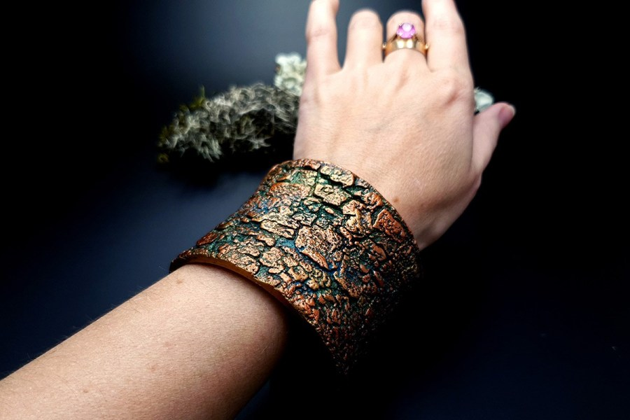 Bracelet Cuff Tree Bark img08