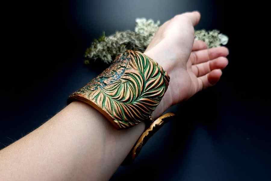 Bracelet Cuff Tree Bark img09