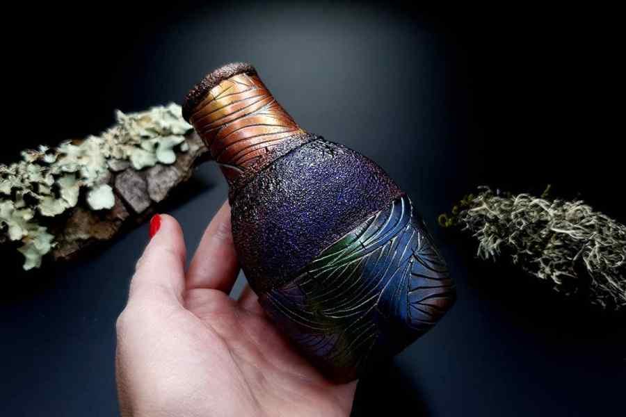 Faux Raku Style Vase 20191012_211233