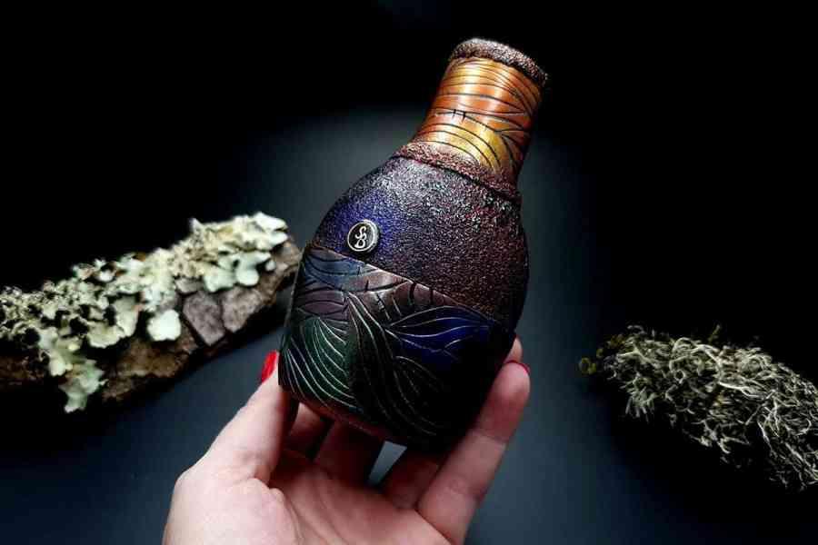 Faux Raku Style Vase 20191012_211415