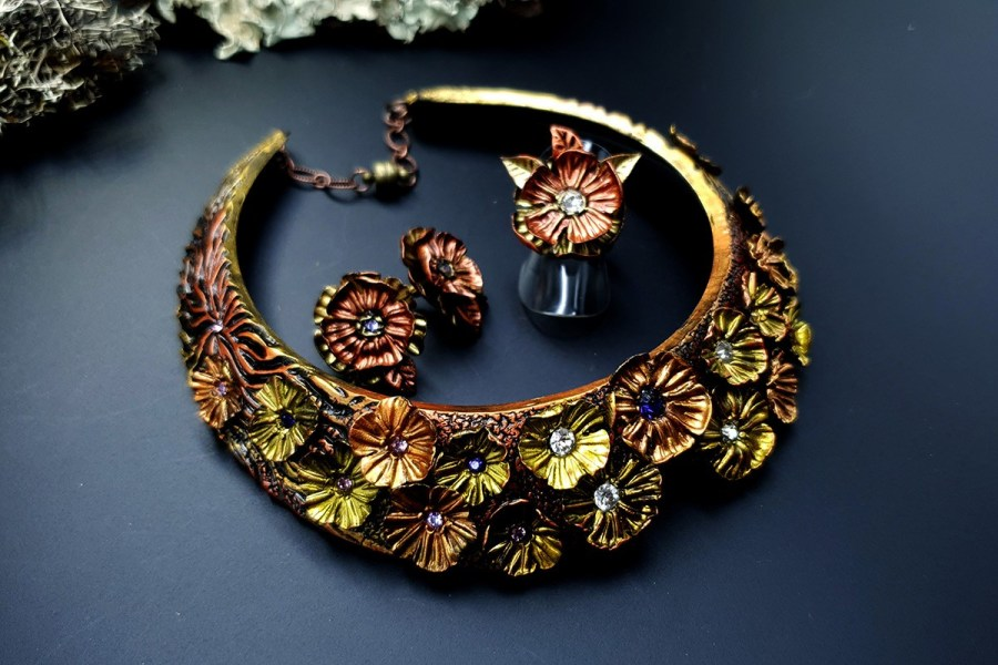 Flowers in Metal 2 Jewelry Set 20191011_135820