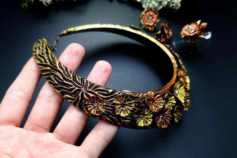Flowers in Metal 2 Jewelry Set 20191011_135838