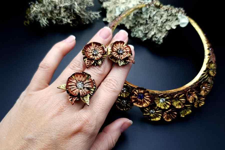 Flowers in Metal 2 Jewelry Set 20191011_140136
