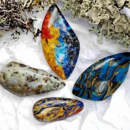 4 pcs Labradorite Pietersite Stone Mix (Set #3)