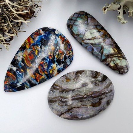 3 pcs Labradorite Pietersite Stone Mix (Set #7)