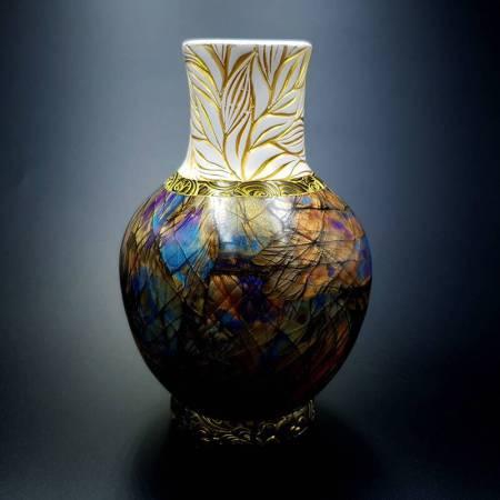 Labradorite Vase from Polymer Clay