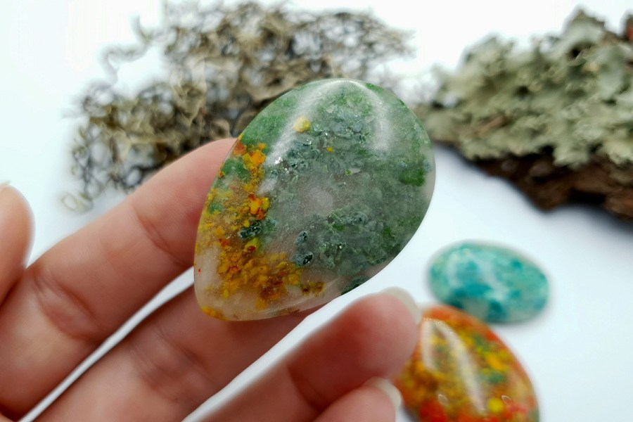 Polymer Clay Moss Agate Set 01 p04