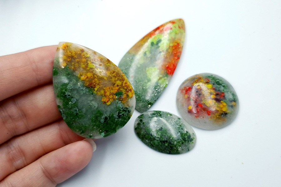 Polymer Clay Moss Agate Set 02 p05
