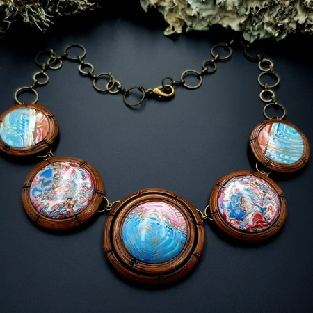 Polymer Clay Necklace #10