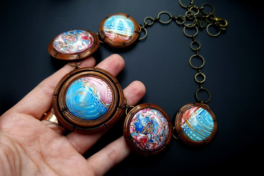 Polymer Clay Necklace 20191009_202322