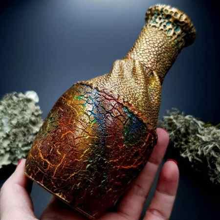 Polymer Clay Vase The Dragon's Treasure