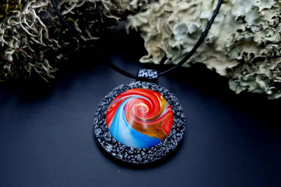 Polymer clay Pendant 20191009_203515