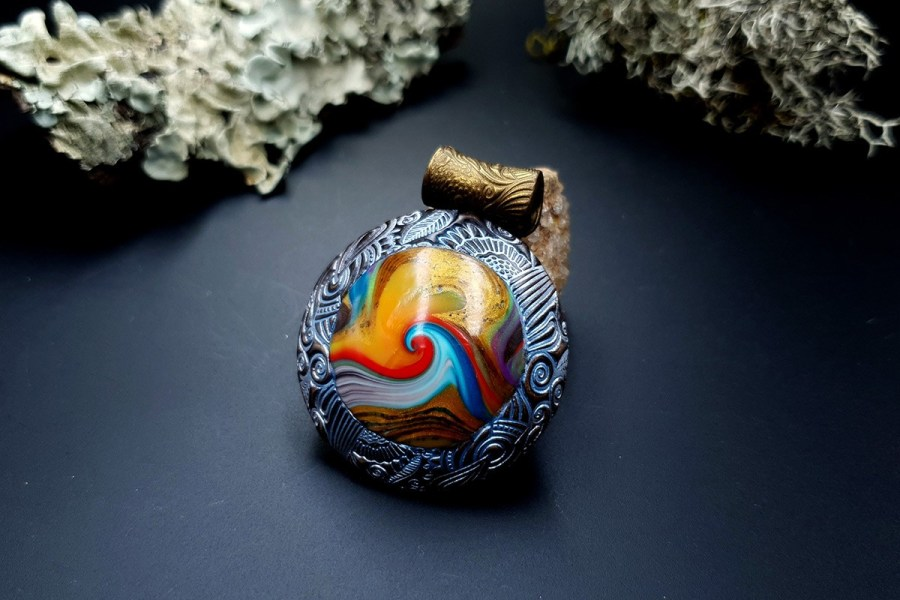 Polymer clay Pendant 20191011_141845