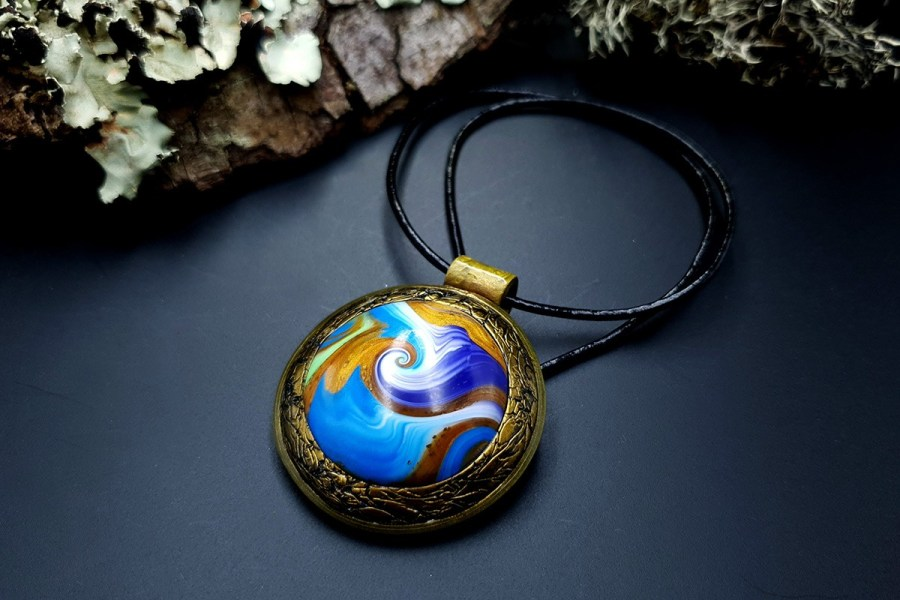 Polymer clay Pendant 20191011_141951