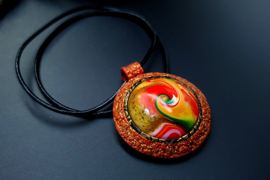 Polymer clay Pendant 20191011_142402