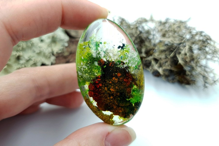 UV Resin Faux Moss Agate Set 01 p03