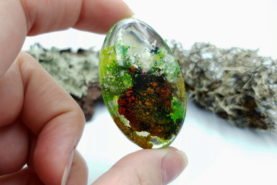 UV Resin Faux Moss Agate Set 01 p06