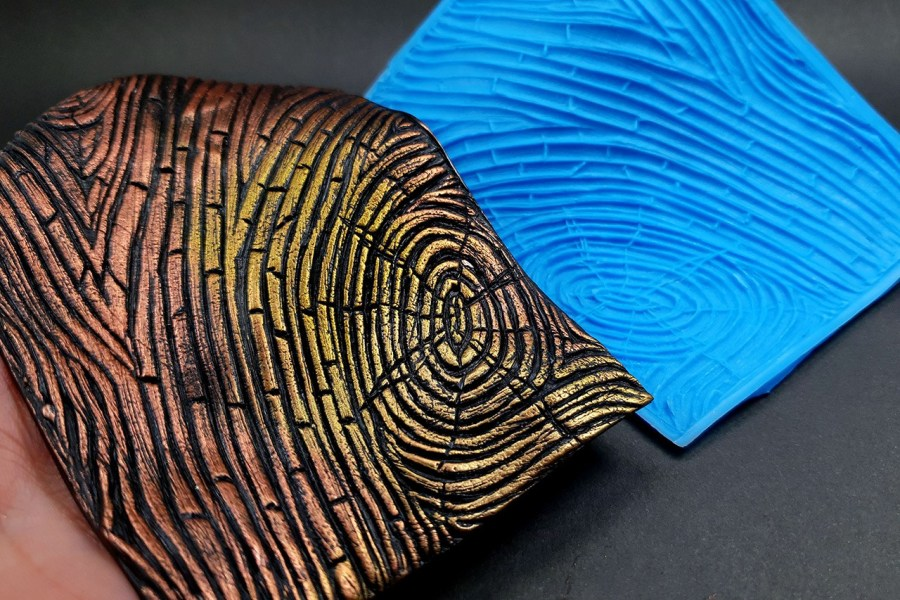 Silicone Texture Wood Grain #2 - 108x80mm 1