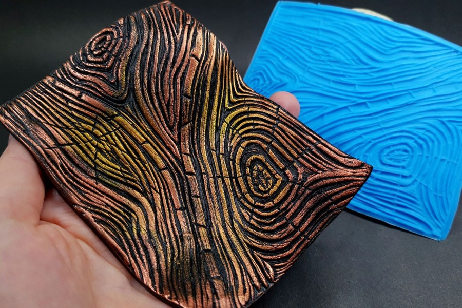 Silicone Texture Wood Grain #1 - 108x83mm 2
