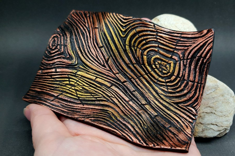 Silicone Texture Wood Grain #1 - 108x83mm 8