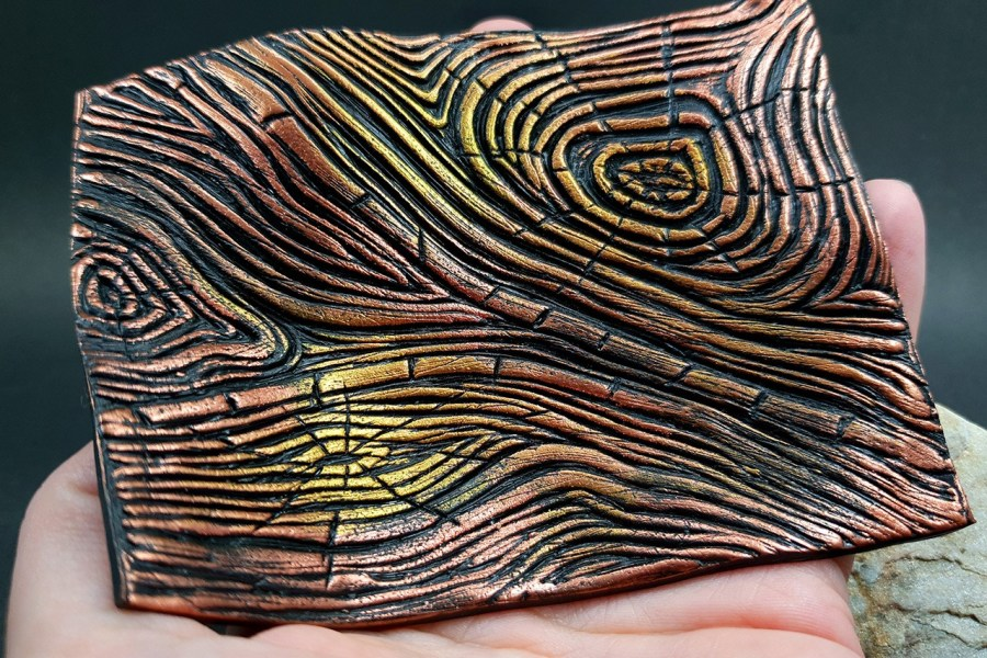 Silicone Texture Wood Grain #1 - 108x83mm 7