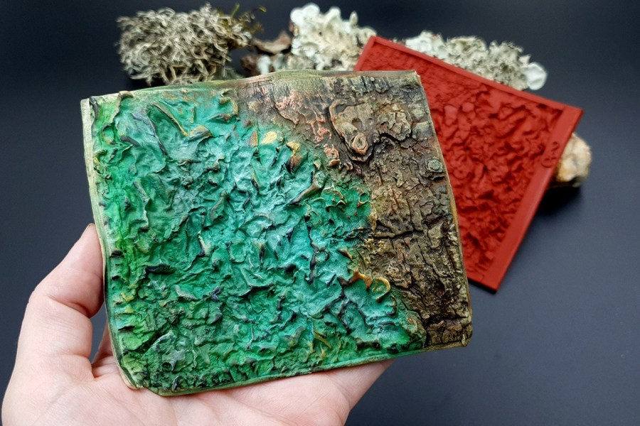Silicone Texture Forest Lichens - 115x100mm 5