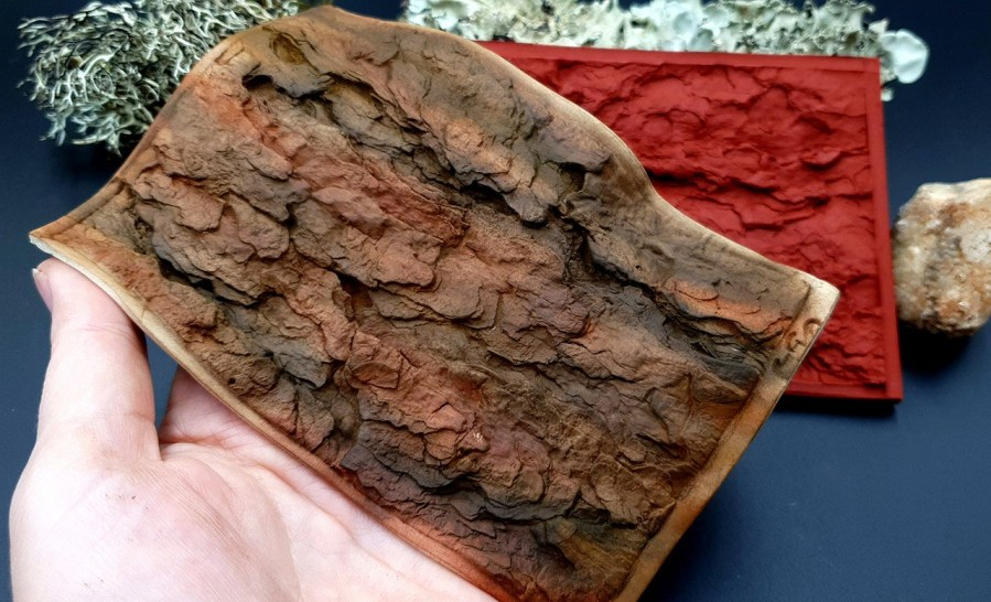 Silicone Texture Pine Tree Bark - 135x90mm 1
