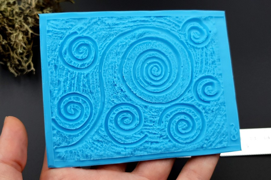 Silicone Texture Starry Night - 100x78mm 4