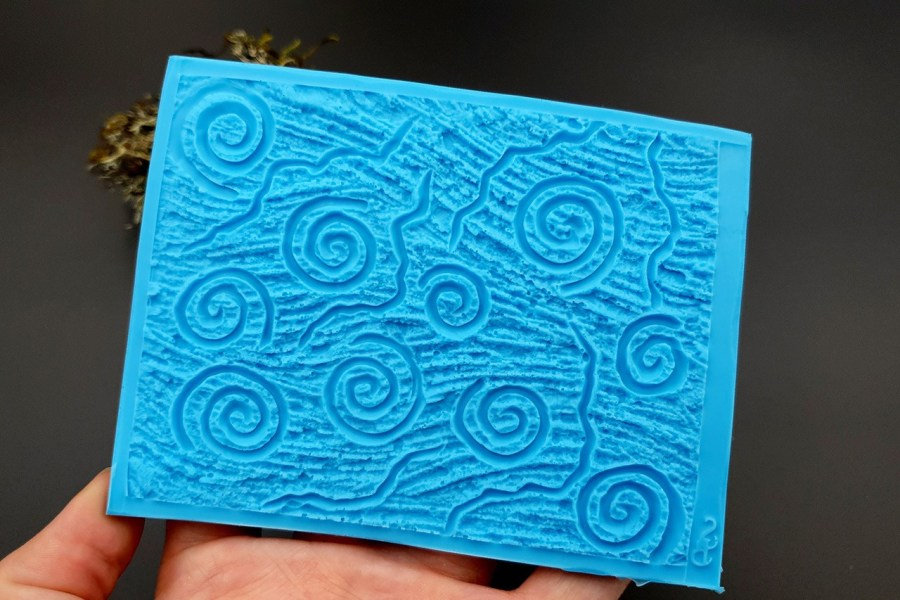 Silicone Texture Art Swirls - 111x85mm 6