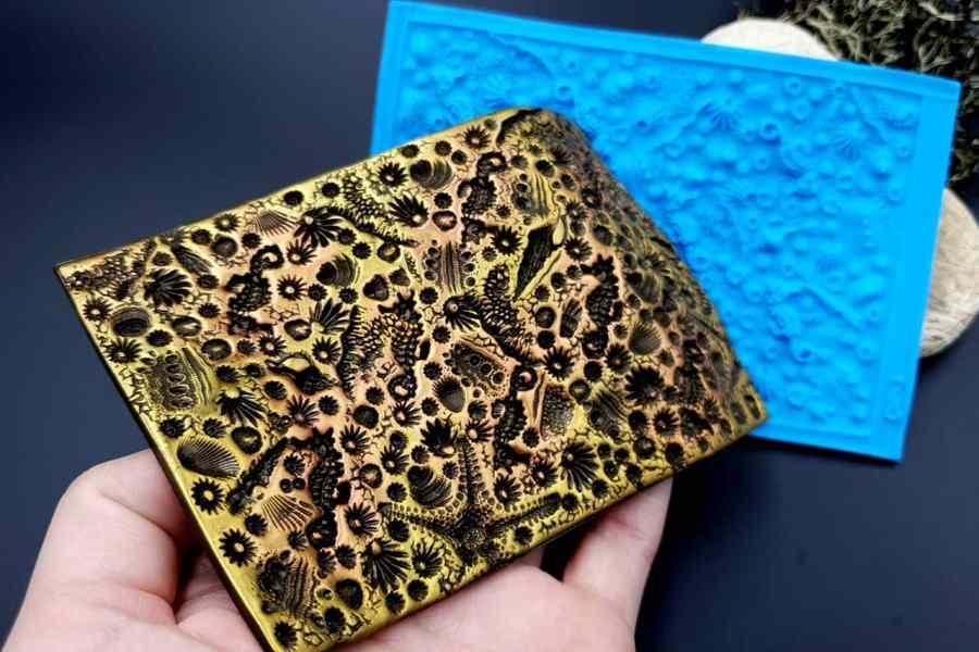 Silicone Texture IN Ocean Floor - 125x84mm