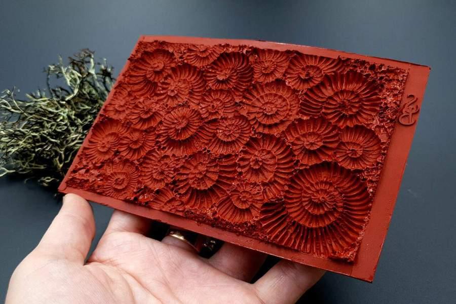 Silicone Texture Ammonites - 140x90mm 9