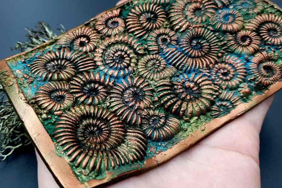 Silicone Texture Ammonites - 140x90mm 3