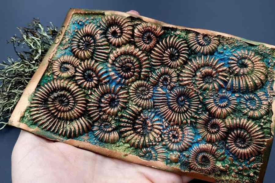 Silicone Texture Ammonites - 140x90mm 2