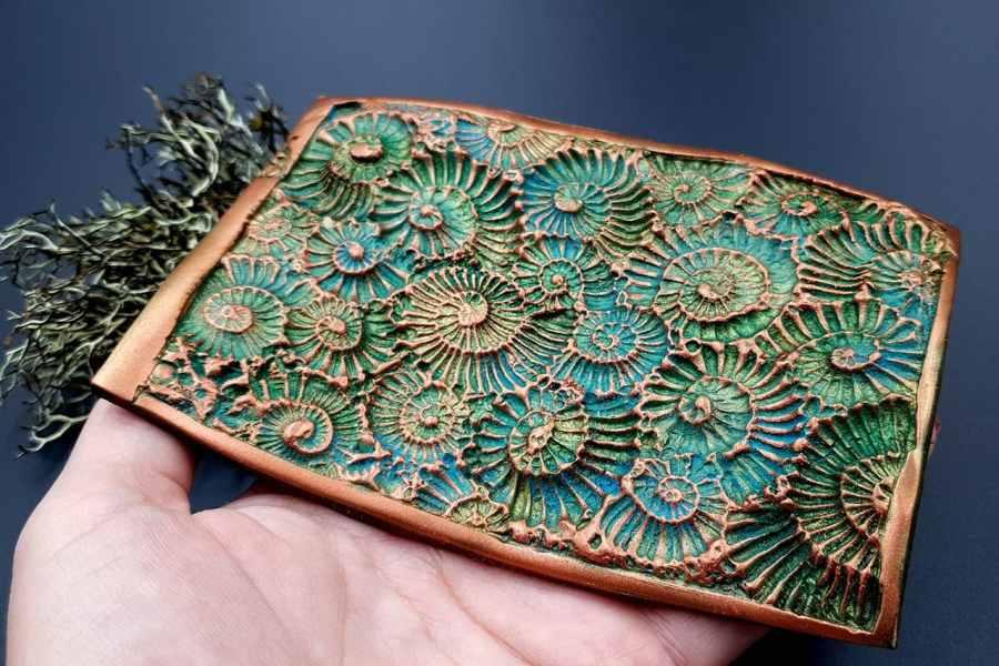 Silicone Texture Ammonites (Opposite) - 140x90mm