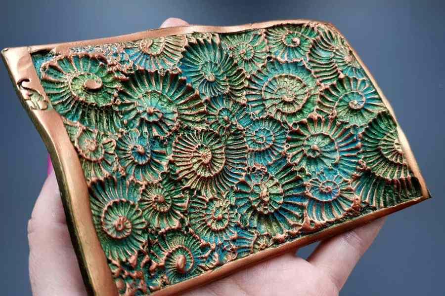 Silicone Texture Ammonites (Opposite) - 140x90mm 2