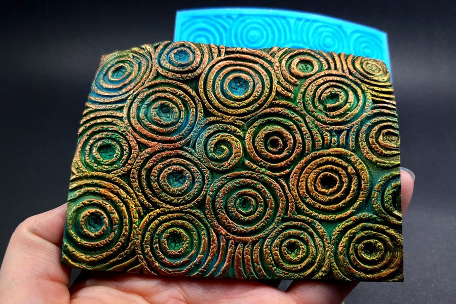 Silicone Texture The Circles (Textured) - 108x80mm 6