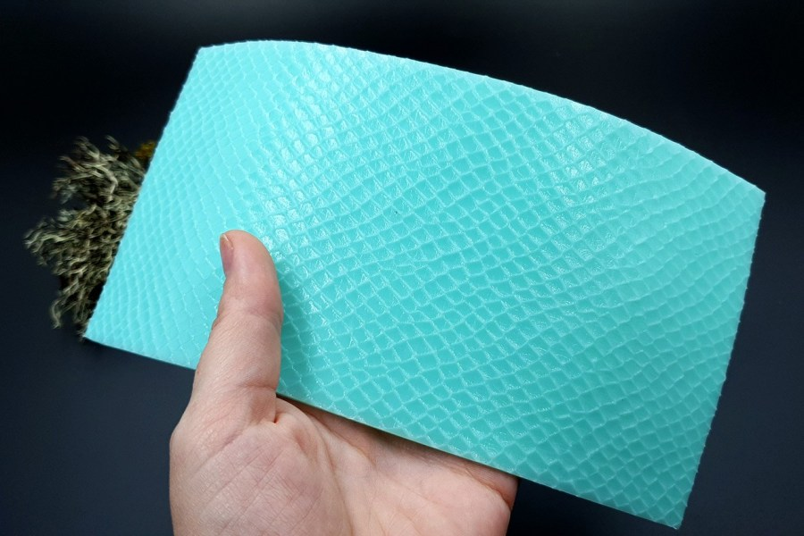 Silicone Texture Snake Skin Leather - 190x100mm 6