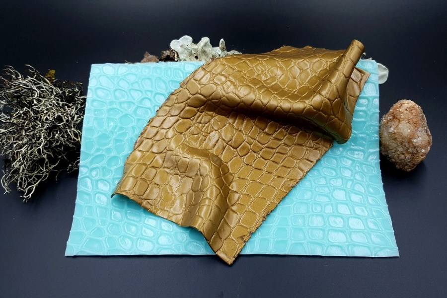 Silicone Texture Crocodile Skin #2 Leather - 180x120mm