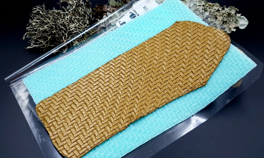 Silicone Texture Weaving Grain #2 - 180x120mm 5