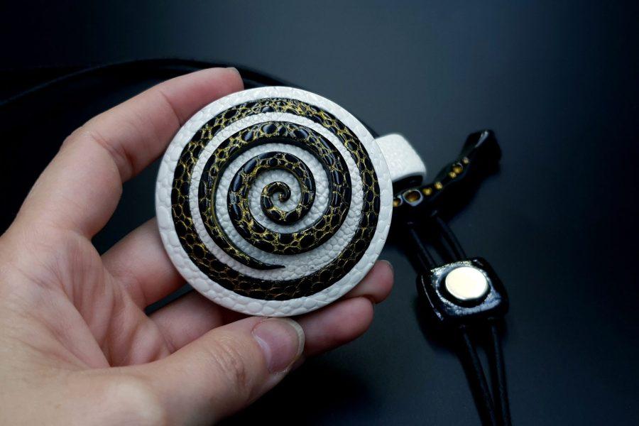 Yin-Yang Swirl Pendant - Cosmic Infinity 6