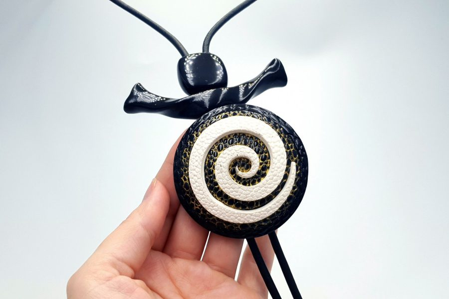 Yin-Yang Swirl Long Pendant - Infiniti of Perfection 7