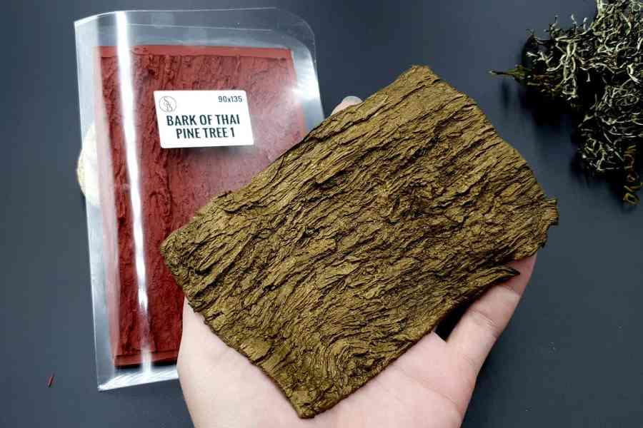 Silicone Texture Bark of Thai Pine Tree #2 - 155x75mm