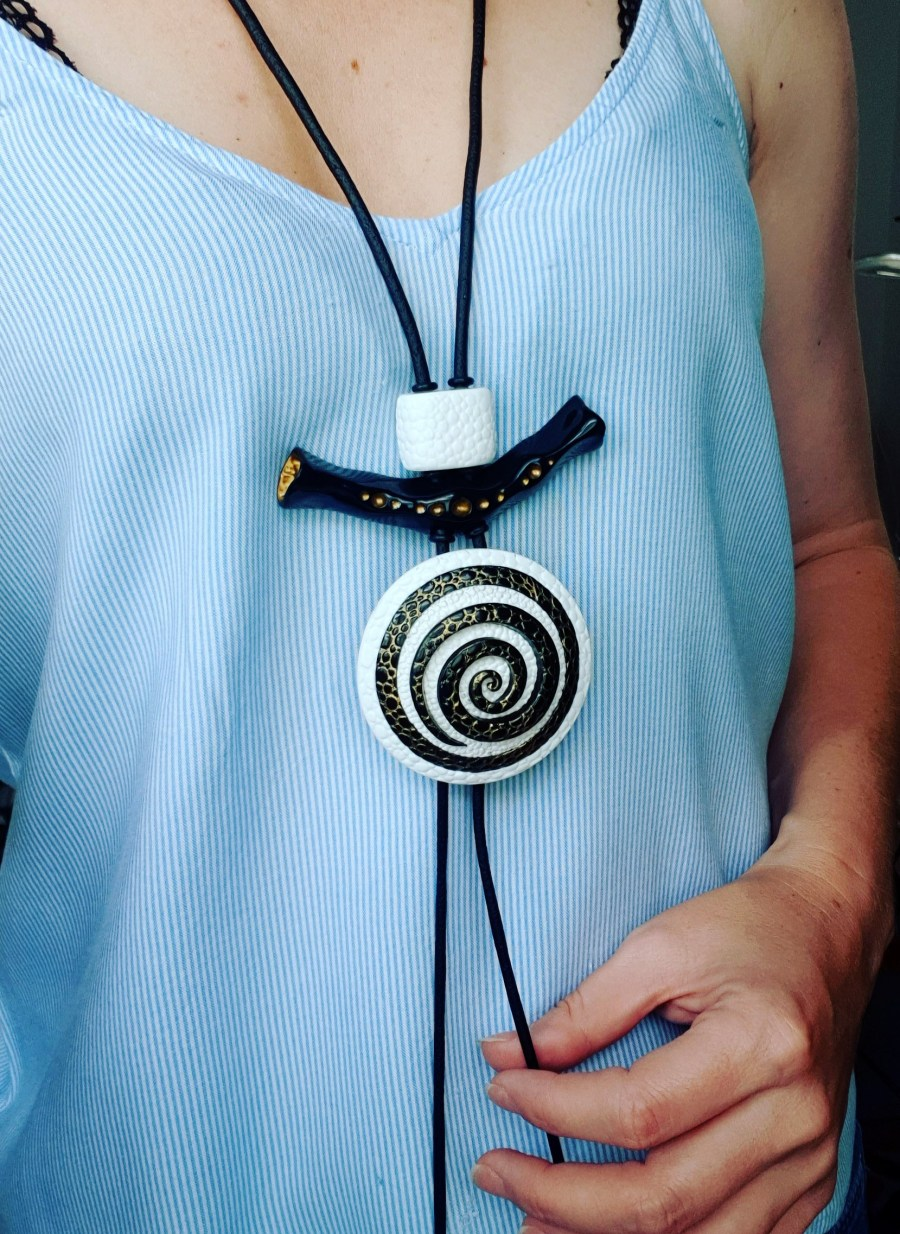 Yin-Yang Swirl Pendant - Cosmic Infinity 9