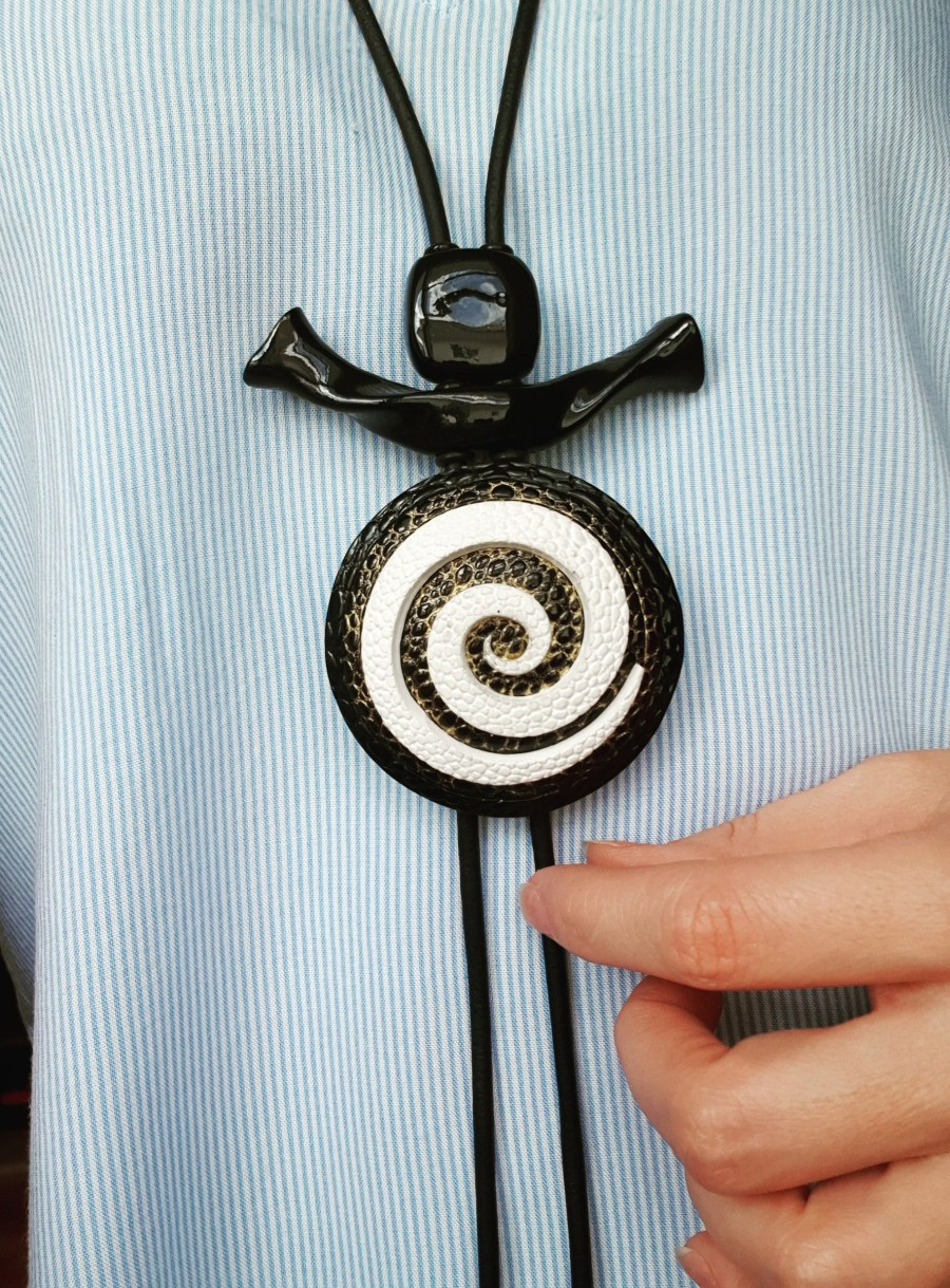 Yin-Yang Swirl Long Pendant - Infiniti of Perfection 10
