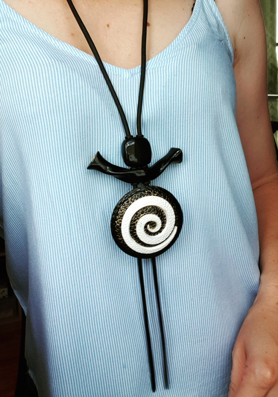 Yin-Yang Swirl Long Pendant - Infiniti of Perfection 8