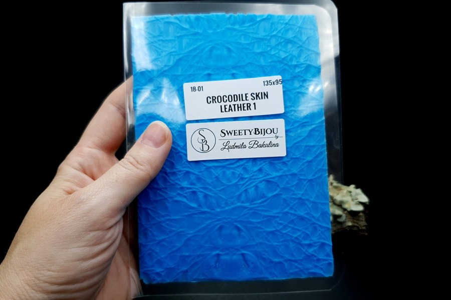 Crocodile Skin Leather 1 - Silicone Texture, Small Size 6